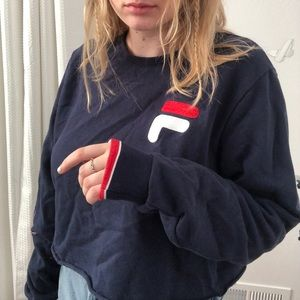 Cropped Fila Sweatshirt